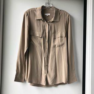 Equipment Tops - Equipment Femme 100% Silk Button-Up Blouse Taupe
